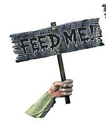 Ground Breaker Feed Me Sign - Decorations