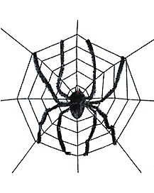 Giant Spider With Web - Decorations