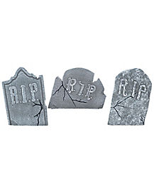 3 Piece Crooked Tombstone Set - Decorations