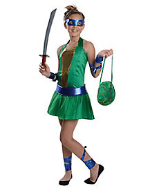 Tween Leonardo Dress Costume - Teenage Mutant Ninja Turtles