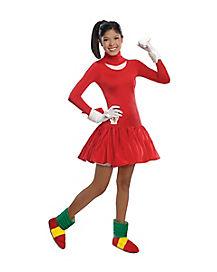 Teen Knuckles Dress Costume - Sonic The Hedgehog
