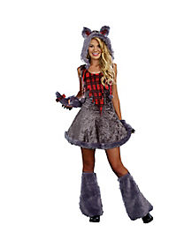 Tween Faux Fur Full Moon Werewolf Costume