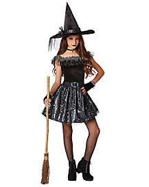 Kids Glitter Witch Costume
