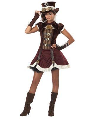 Steampunk Dresses | Women & Girl Costumes Kids Steampunk Costume by Spirit Halloween $49.99 AT vintagedancer.com