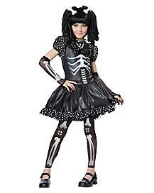 Kids Skeleton Dress Costume