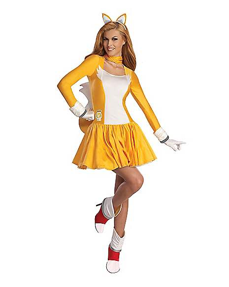 Adult Tails Dress Costume Sonic The Hedgehog