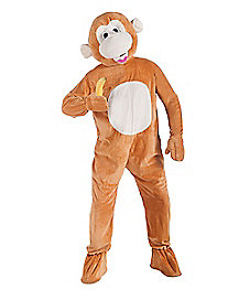 adult monkey mascot one piece costume adult banana hammock costume   spirithalloween    rh   spirithalloween