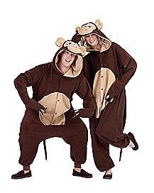 adult hooded monkey pajama costume adult banana hammock costume   spirithalloween    rh   spirithalloween