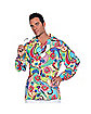 70s Paisley Adult Mens Plus Size Shirt