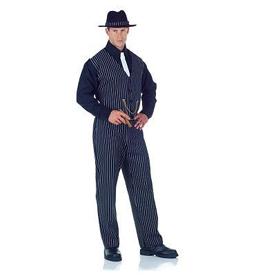 Classic 1940s Men's Suits, Zoot Suits Adult Mobster Costume $49.99 AT vintagedancer.com