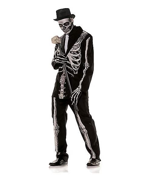 New Men Skeleton skull Costumes Adult Gentleman Halloween Costume Party Clothing