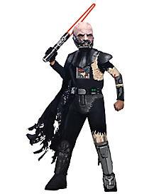 Kids Battle Damaged Darth Vader Costume Deluxe- Star Wars