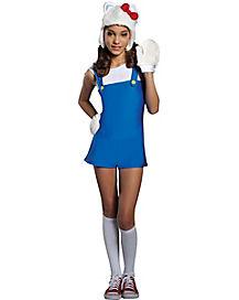 kids blue hello kitty romper costume hello kitty - Halloween Hello Kitty Costume