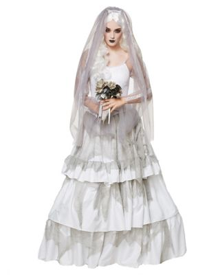 Victorian Costumes: Dresses, Saloon Girls, Southern Belle, Witch Adult Victorian Ghost Bride Costume by Spirit Halloween $69.99 AT vintagedancer.com