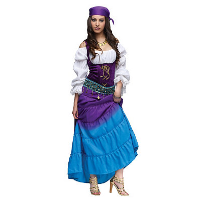 Roaring 20s Costumes- Cheap Flapper Dresses, Gangster Costumes Adult Gypsy Moon Costume $74.99 AT vintagedancer.com