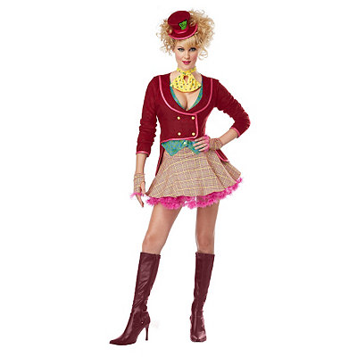 Victorian Steampunk Clothing & Costumes for Ladies Adult Skirted The Mad Hatter Costume $54.99 AT vintagedancer.com