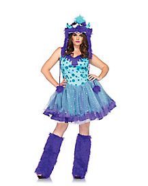adult polka dotty monster plus size costume - Halloween Costume Monster