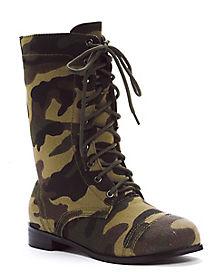 Kids Camo Combat Boots