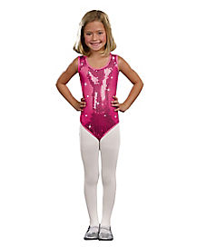 Kids Sequin Glam Pink Leotard