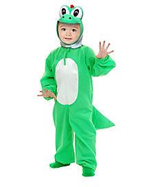 Toddler Green Dinosaur One Piece Costume