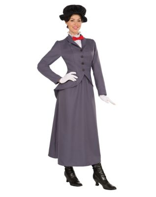 Easy DIY Edwardian Titanic Costumes 1910-1915 Adult English Nanny Costume by Spirit Halloween $39.99 AT vintagedancer.com