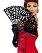 Gothic Black Lace Fan
