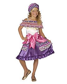 Kids Pink Gypsy Costume