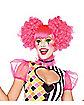 Harlequin Neon Pink Adult Wig