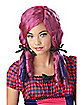 Pink Curly Doll Wig