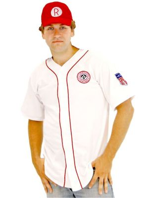 1940s Men's Costumes: WW2, Sailor, Zoot Suits, Gangsters, Detective Mens Rockford Peaches Costume - A League of Their Own by Spirit Halloween $42.99 AT vintagedancer.com