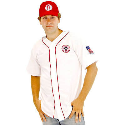 1940s Men's Costumes: WW2, Sailor, Zoot Suits, Gangsters, Detective Adult Rockford Peaches Costume - A League of Their Own $42.99 AT vintagedancer.com