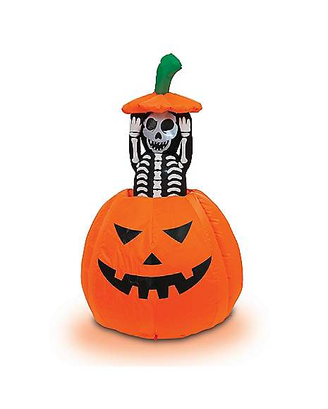 Ft pop up skeleton pumpkin inflatable decorations