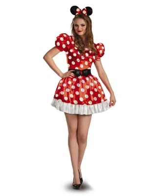 1950s Costumes- Poodle Skirts, Grease, Monroe, Pin Up, I Love Lucy Adult Red Minnie Mouse Plus Size Costume - Disney by Spirit Halloween $44.99 AT vintagedancer.com
