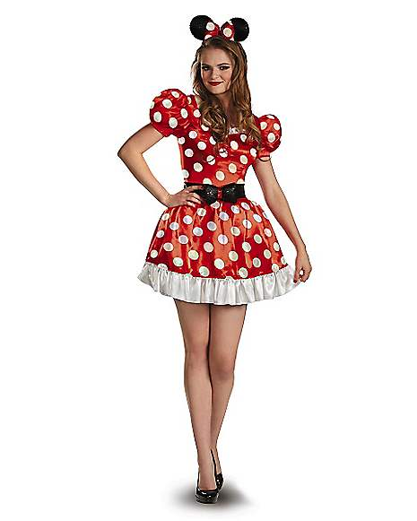 Adult Red Minnie Mouse Plus Size Costume - Disney - Spirithalloween.com