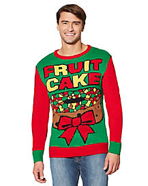 Adult Fruit Cake Ugly Christmas Sweater