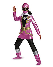 Kids Pink Ranger Costume Deluxe - Power Rangers Super Megaforce