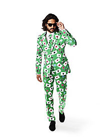 Adult Poker Face Party Suit