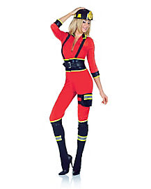 Adult 3 Alarm Fire One Piece Costume
