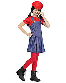 Kids Rad Red Plumber Costume