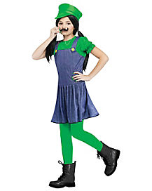 Kids Game Changing Green Plumber Costume