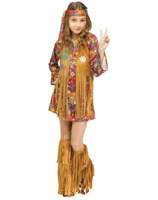 60s 70s Kids Costumes & Clothing Girls & Boys Kids Peace and Love Hippie Costume by Spirit Halloween $34.99 AT vintagedancer.com