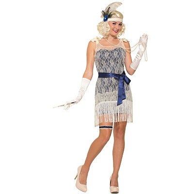 1920s Style Costumes Adult Gold Cost Socialite Costume $34.99 AT vintagedancer.com