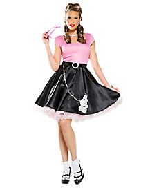 Adult 50s Sweetheart Poodle Skirt Costume