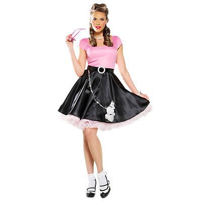 1950s Costumes Adult 50s Sweetheart Poodle Skirt Costume $39.99 AT vintagedancer.com