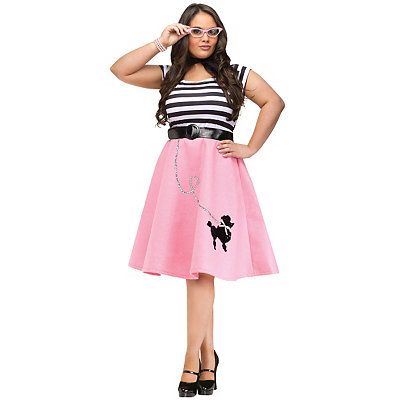 Pin Up Dresses | Pin Up Clothing Adult Soda Shop Sweetie Plus Size Costume $39.99 AT vintagedancer.com