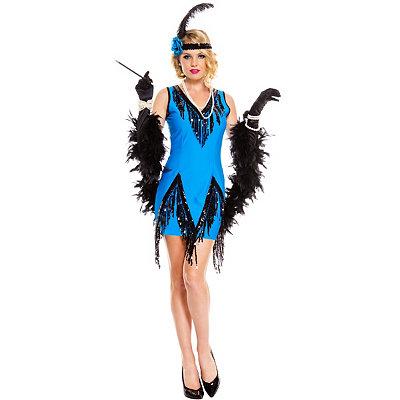 1920s Style Costumes Adult Fascinating Flapper Costume $44.99 AT vintagedancer.com