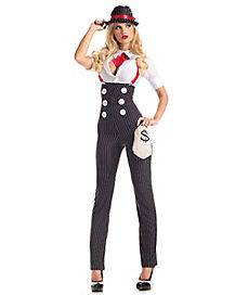 Adult Heist Hottie Gangster Costume