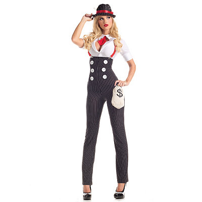 What Did Women Wear in the 1930s? Adult Heist Hottie Gangster Costume $49.99 AT vintagedancer.com