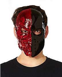 Red and Black Skull Mask