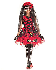 Kids Senorita Day of the Dead Costume